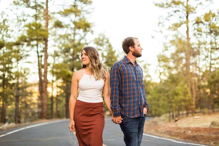 Natalia and Sean: Northern Arizona Portrait Photography road