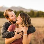 Natalia and Sean: Downtown Flagstaff AZ Engagement Photographer