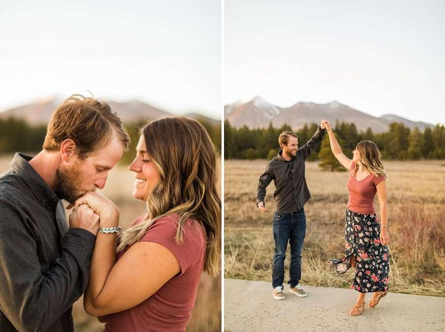 Natalia and Sean: Downtown Flagstaff AZ Engagement Photographer flagstaff