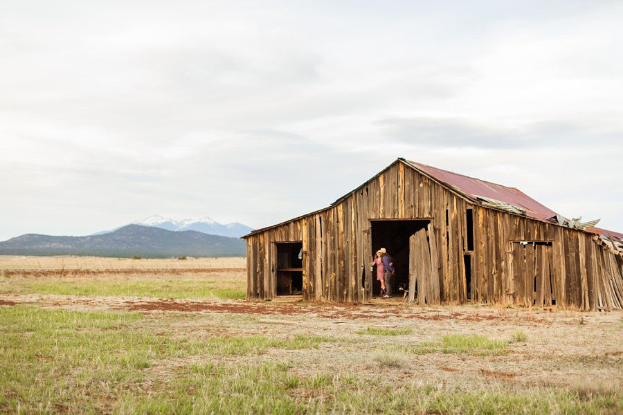 Taylar and Jacob: Northern Arizona Engagement Photography Session historic barn