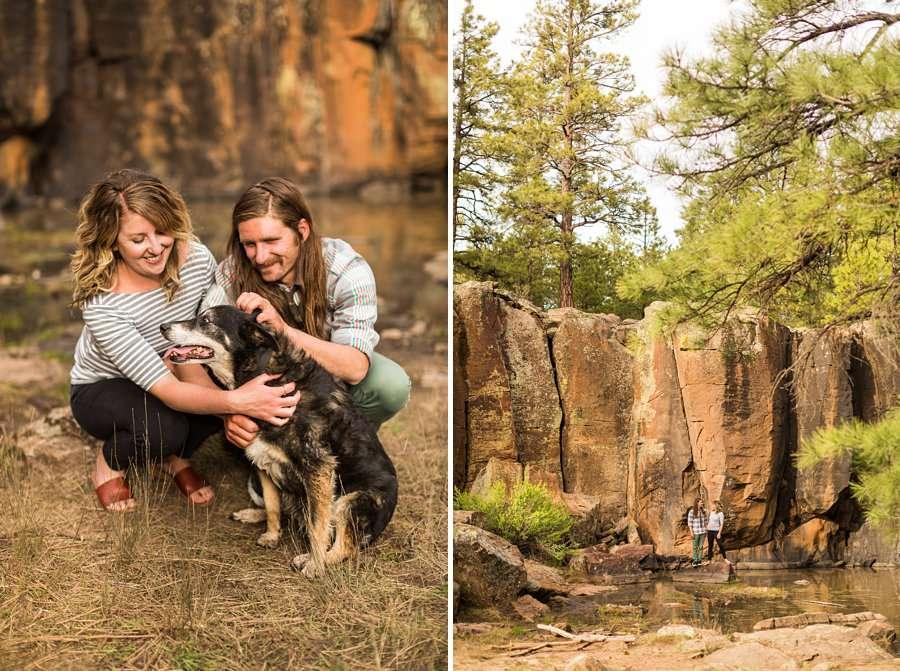 Taylar and Jacob: Northern Arizona Engagement Photography Session doggy