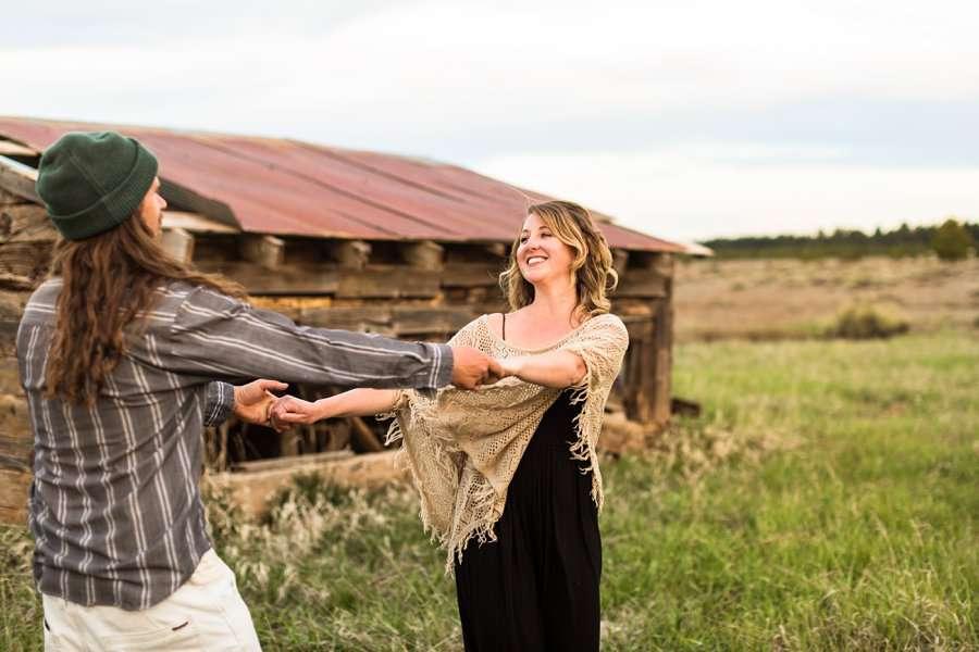 Taylar and Jacob: Flagstaff AZ Portrait Photographer playful