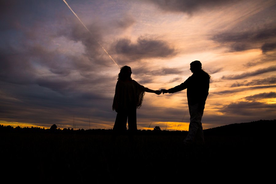 Taylar and Jacob: Northern Arizona Engagement Photography Session silhouette