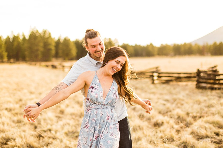 Andrea and Ty: Engagement Photographers Flagstaff fly