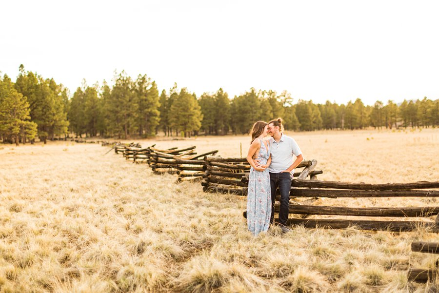 Andrea and Ty: Engagement Photographers Flagstaff snuggles