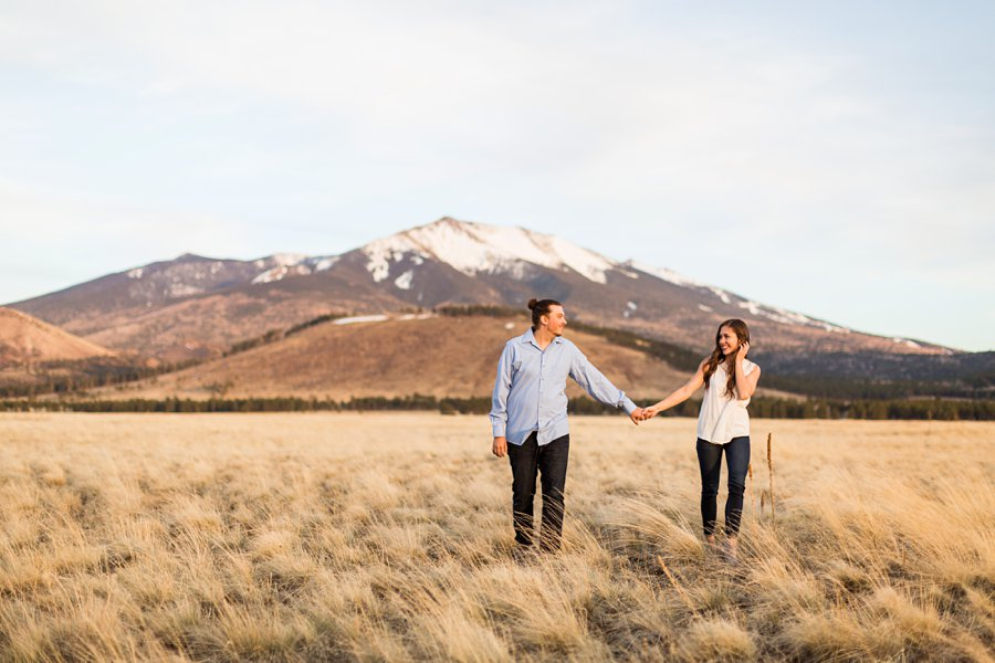 Andrea and Ty - Northern Arizona Portrait Photographer walking