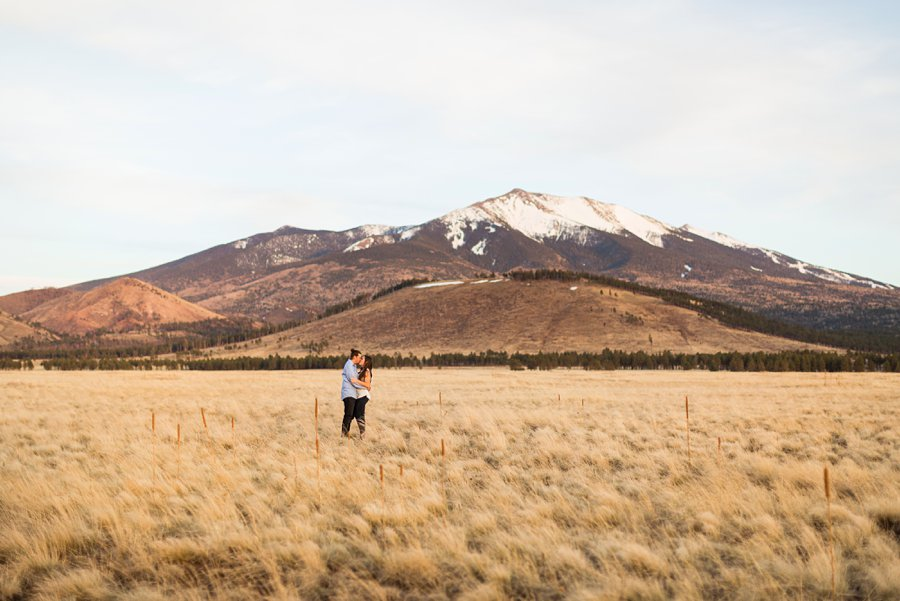 Andrea and Ty: Engagement Photographers Flagstaff mountains