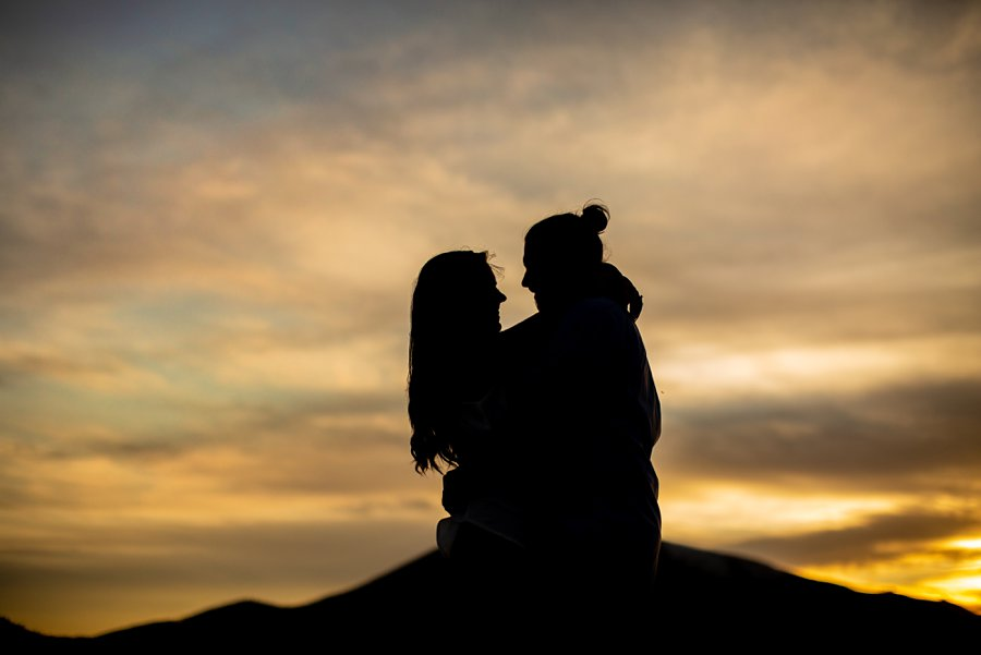 Andrea and Ty - Northern Arizona Portrait Photographer sunset silhouette