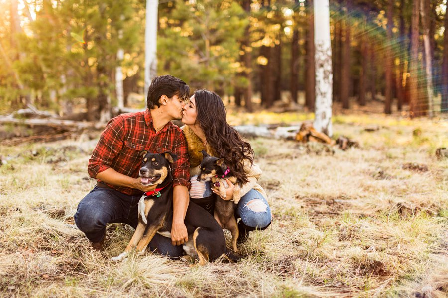 Brianna and John: Northern AZ Portrait Photography dogs