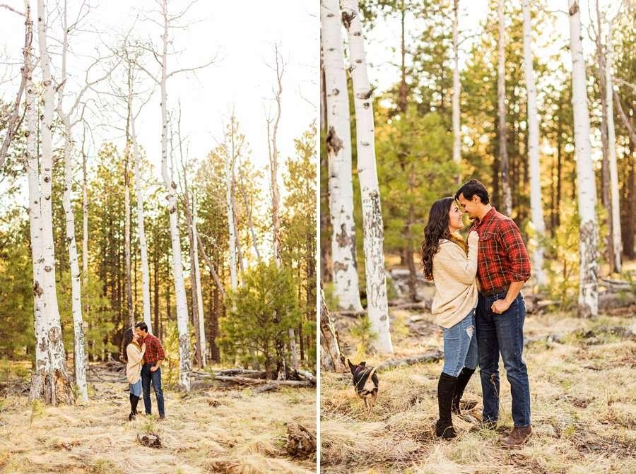 Brianna and John: Adventure Engagement Flagstaff Arizona snuggle