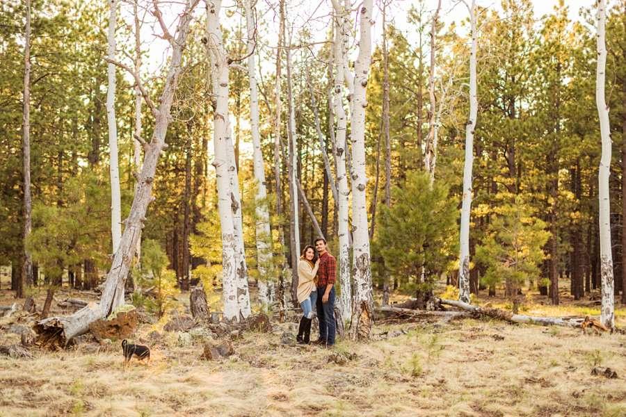 Brianna and John: Adventure Engagement Flagstaff Arizona aspens