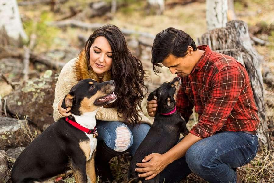 Brianna and John: Northern AZ Portrait Photography kisses