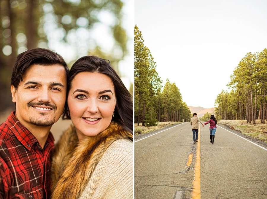 Brianna and John: Northern AZ Portrait Photography run down road