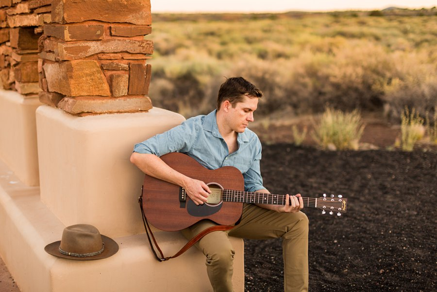 CF Black: Arizona Musician Portrait Photography arizona guitar