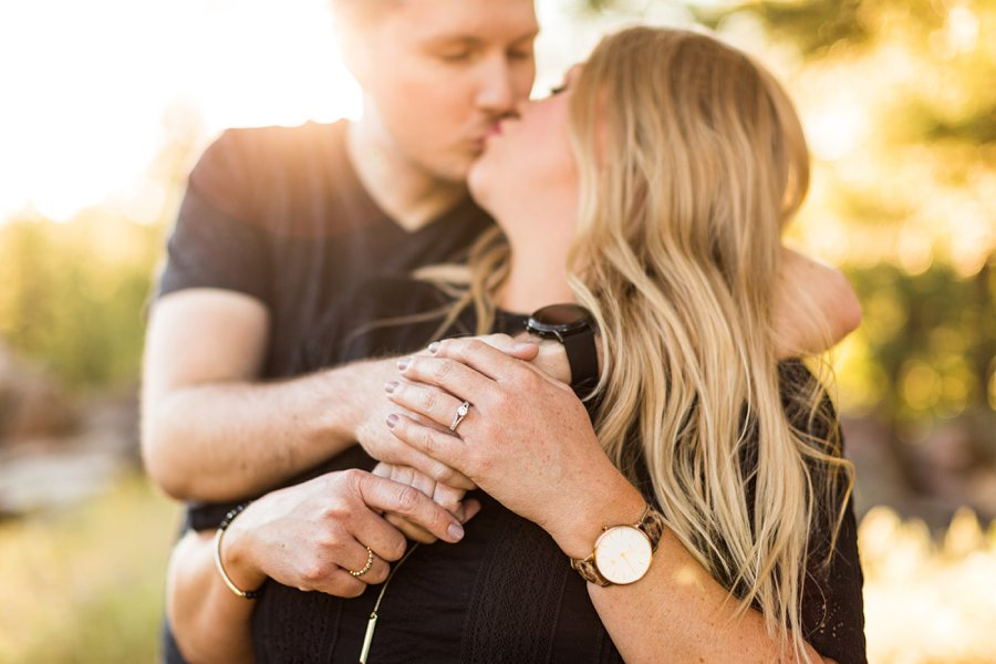 Casey and Corey: Buffalo Park Flagstaff Engagement Photography ring