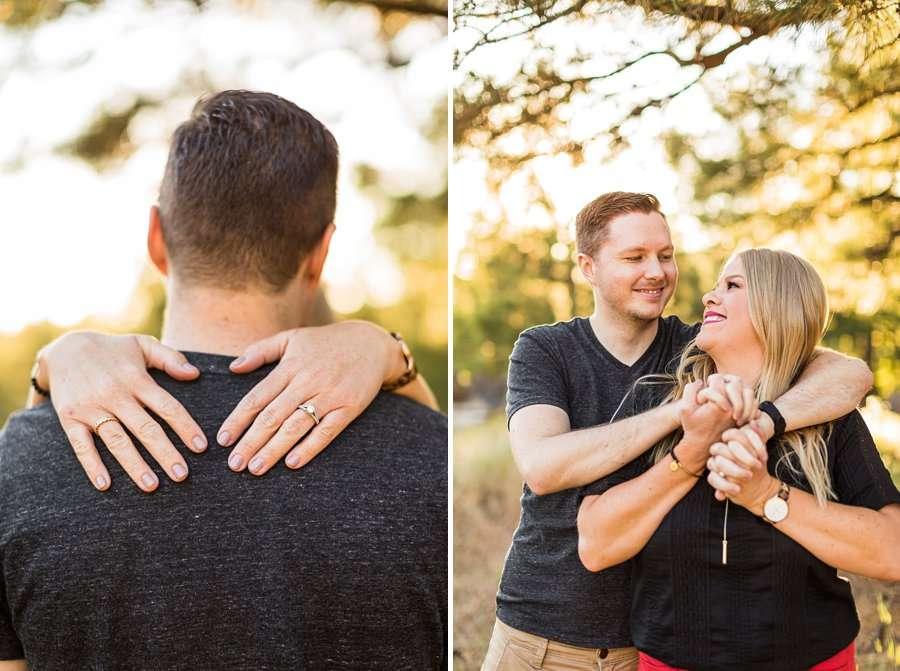 Casey and Corey: Buffalo Park Flagstaff Engagement Photography joy