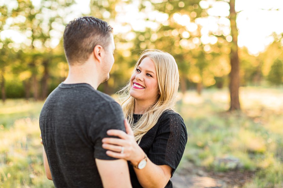 Casey and Corey: Buffalo Park Flagstaff Engagement Photography smiles