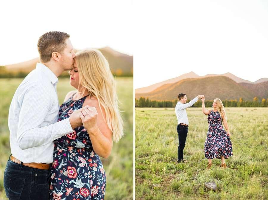 Casey and Corey: Northern Arizona Portrait Photographers dancing