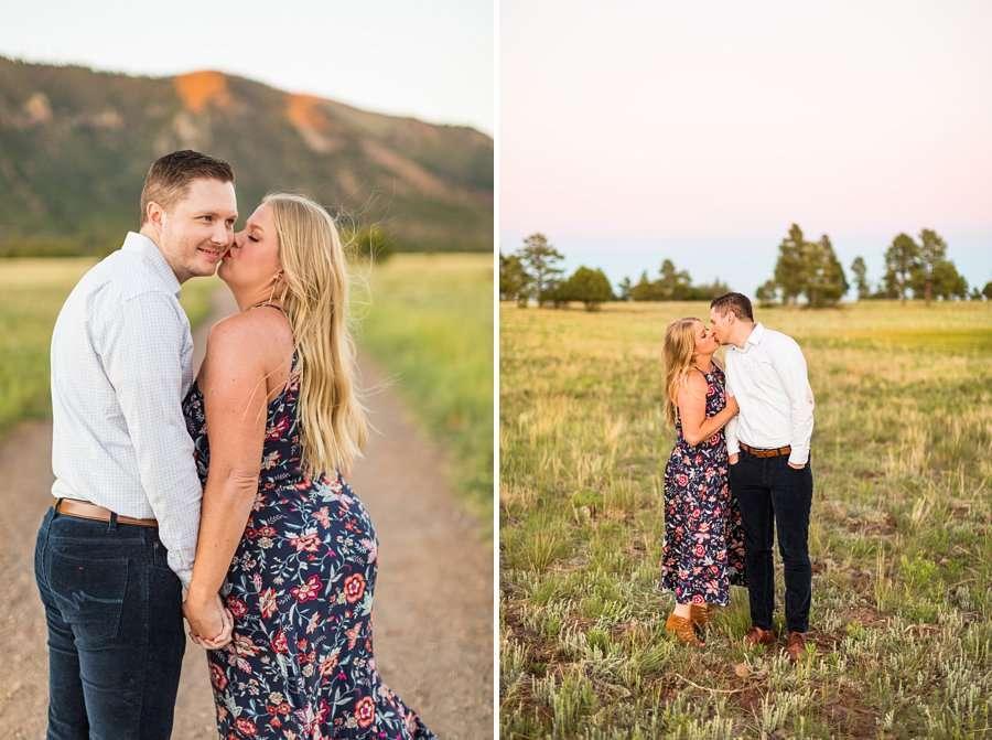 Casey and Corey: Northern Arizona Portrait Photographers kisses