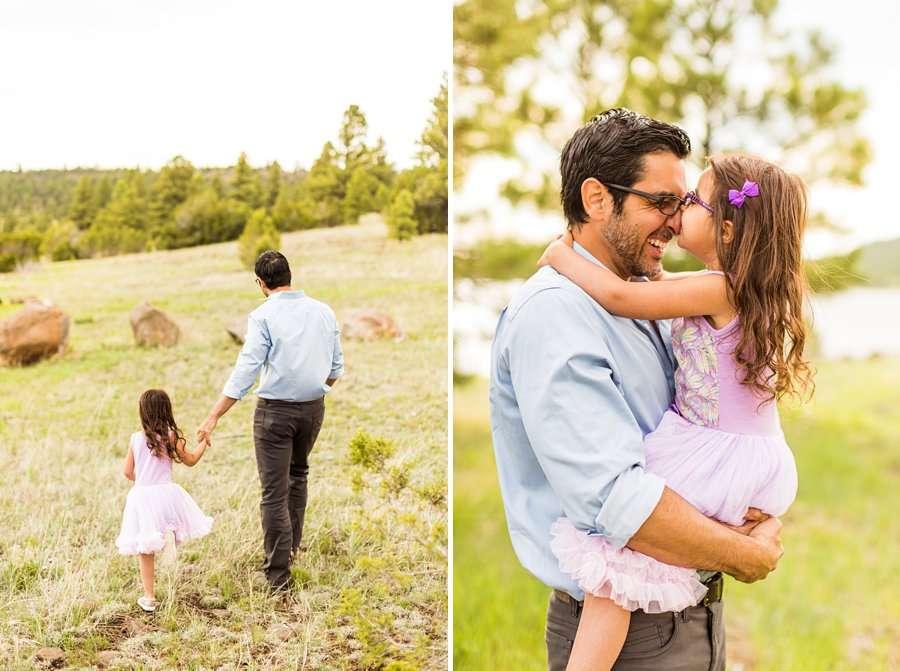Kasem Family: Sedona AZ Family Photography dad and daughter