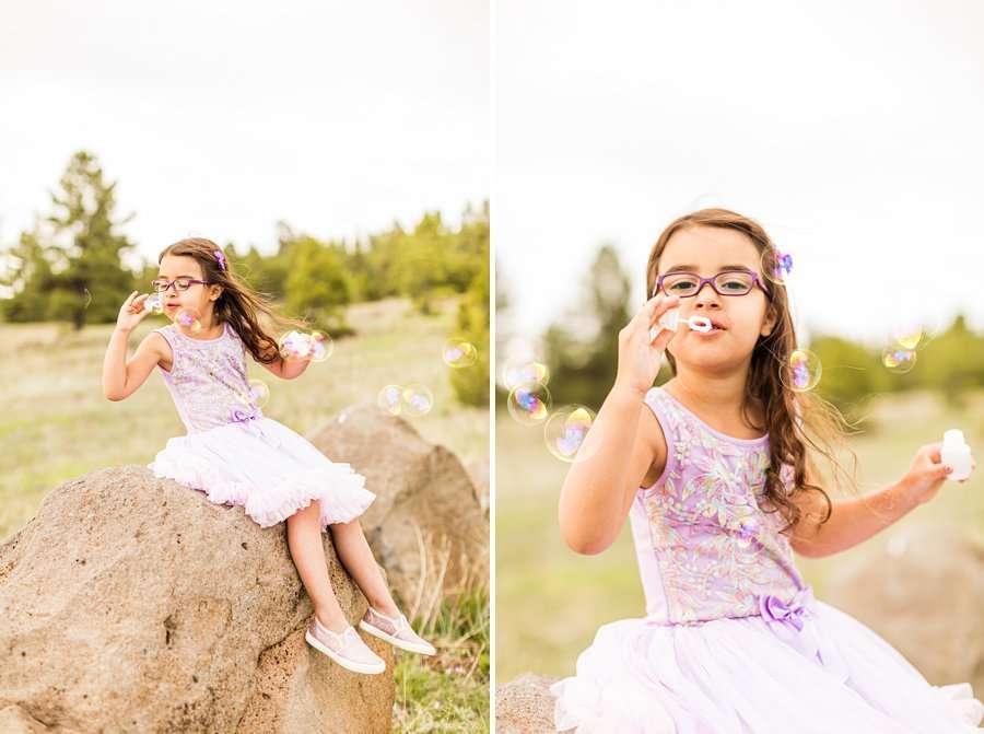 Kasem Family: Sedona AZ Family Photography bubbles