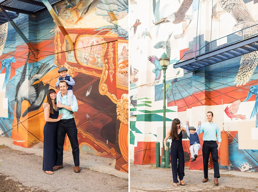 Kauffman Family: Downtown Flagstaff Family Photographer together colorful