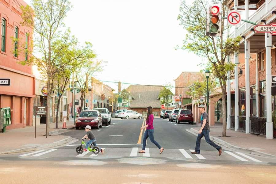 Kauffman Family: Northern Arizona Portrait Photography walking downtown