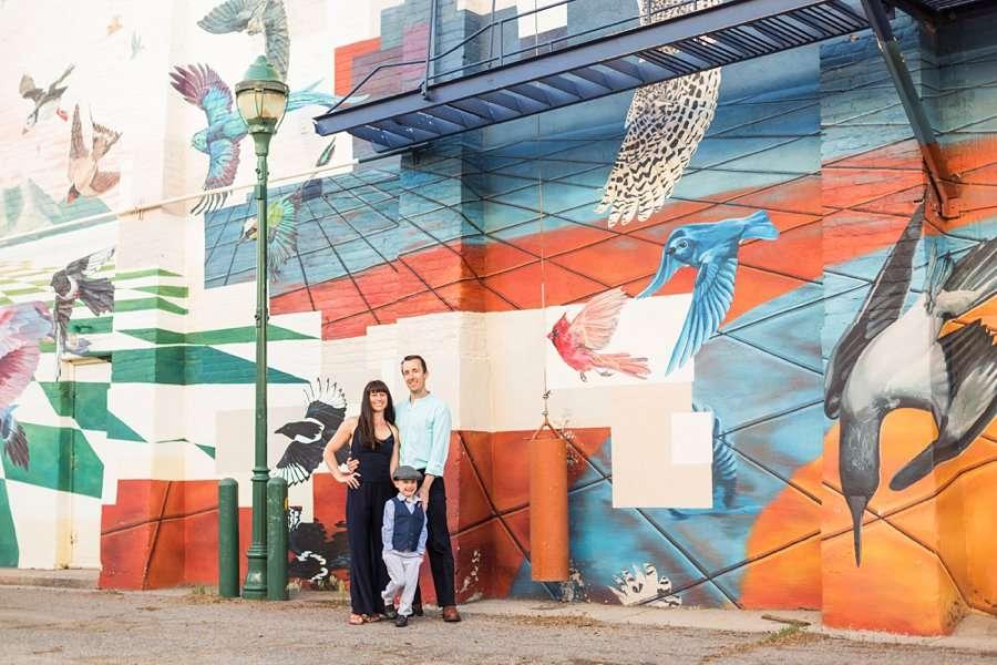 Kauffman Family: Downtown Flagstaff Family Photographer happy