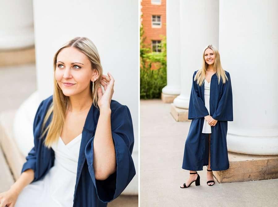 Allie: Northern Arizona University Senior Photography cap and gown