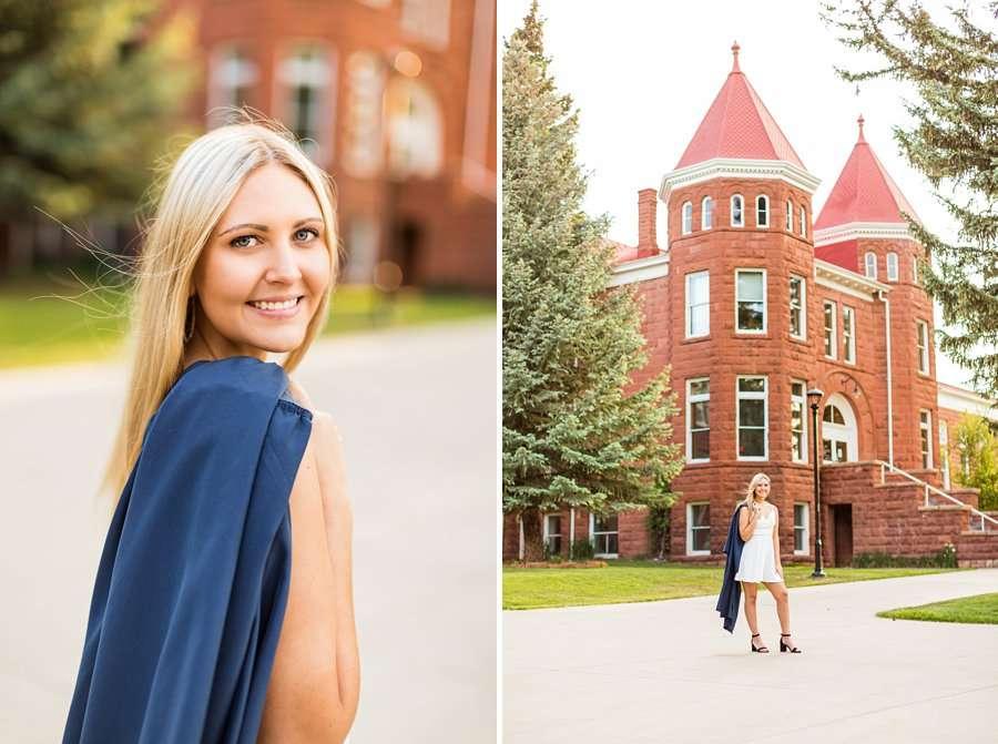 Allie: Northern Arizona University Senior Photography smiling and celebrating