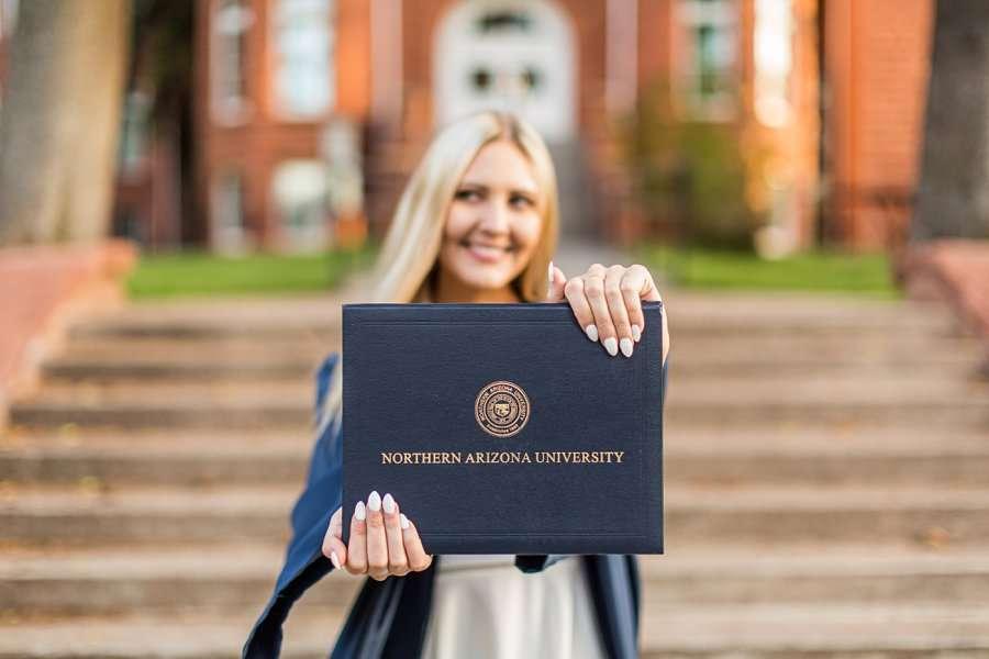 Allie: NAU Graduation Photographer best in sedona