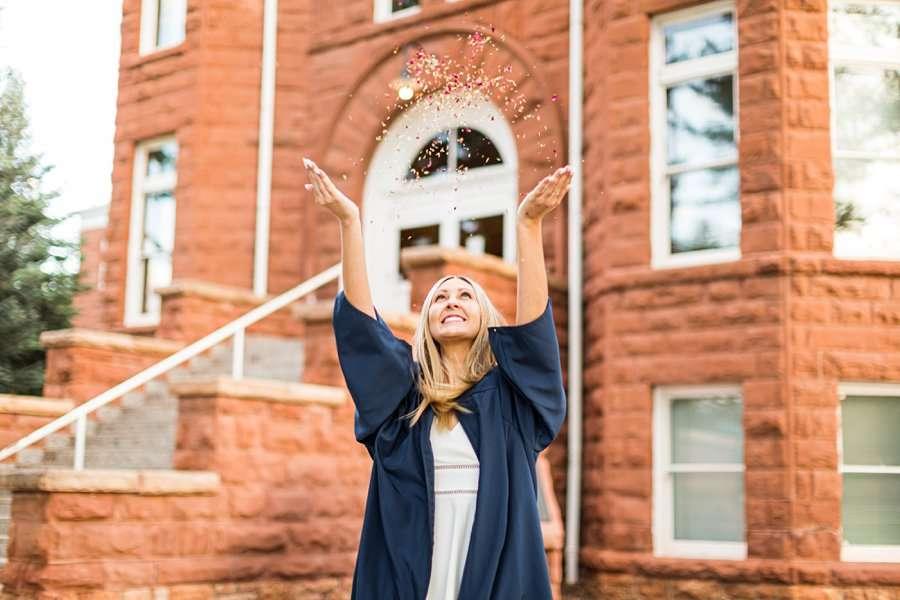 Allie: NAU Graduation Photographer poses for girls