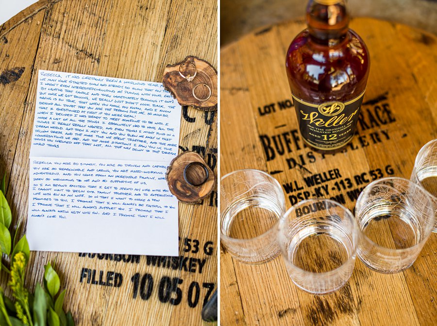 Becca and Josh: Flagstaff Arizona Elopement Photography bourbon and grooms gifts