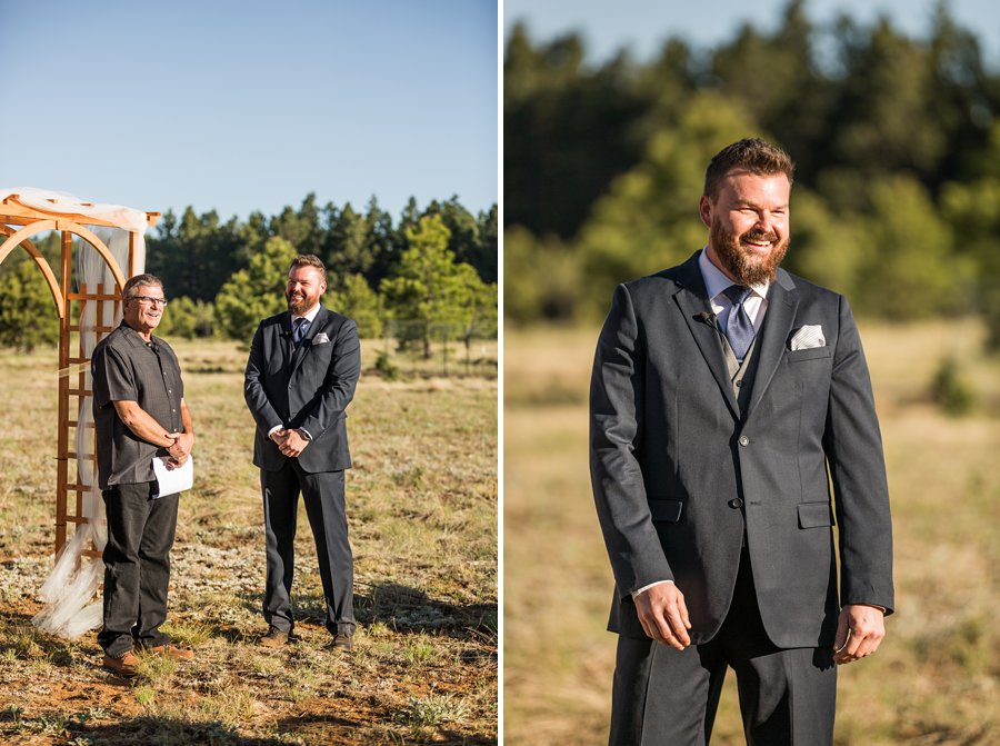 Becca and Josh: Northern AZ Wedding Photographer the first look