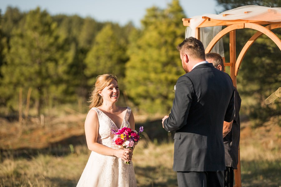 Becca and Josh: Northern AZ Wedding Photographer bride smiling