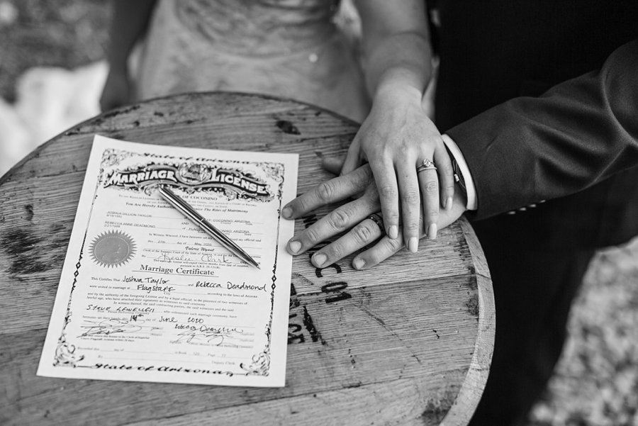 Becca and Josh: Northern AZ Wedding Photographer marriage license