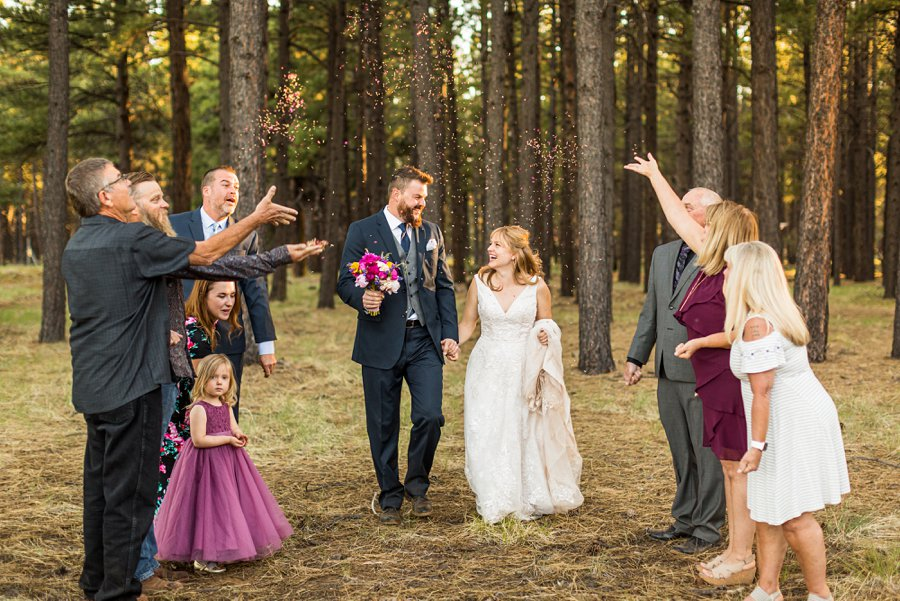 Becca and Josh: Northern AZ Wedding Photographer forest wedding venues