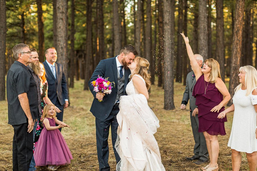 Becca and Josh: Northern AZ Wedding Photographer forest ceremony sites