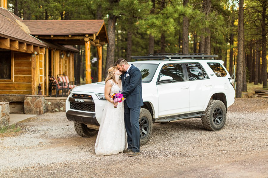 Becca and Josh: Northern AZ Wedding Photographer wedding photography with toyota forrunner