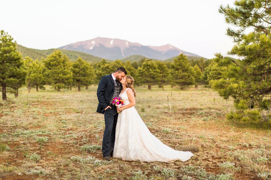 Becca and Josh: Flagstaff Arizona Elopement Photography the peaks bride and groom
