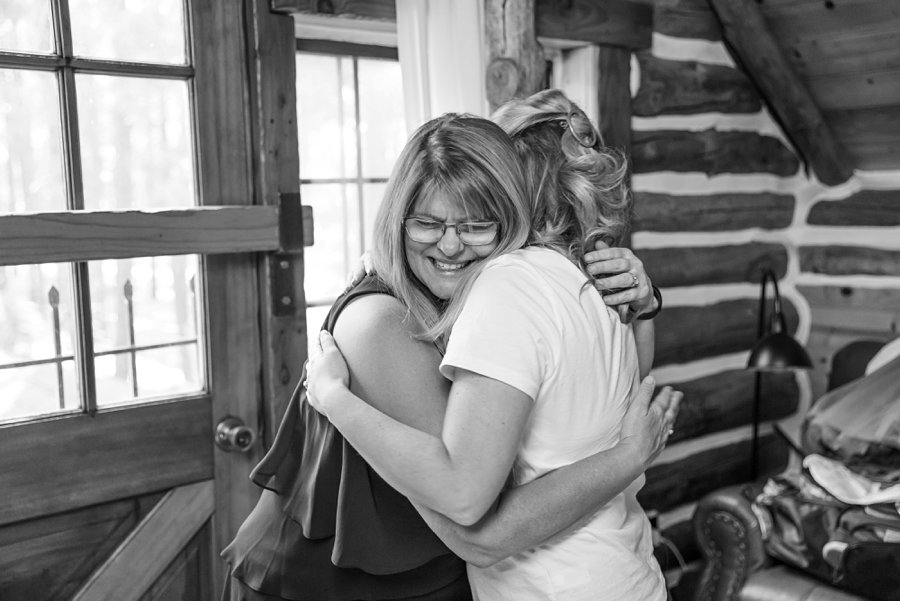 Becca and Josh: Flagstaff Arizona Elopement Photography bride and mom hugging
