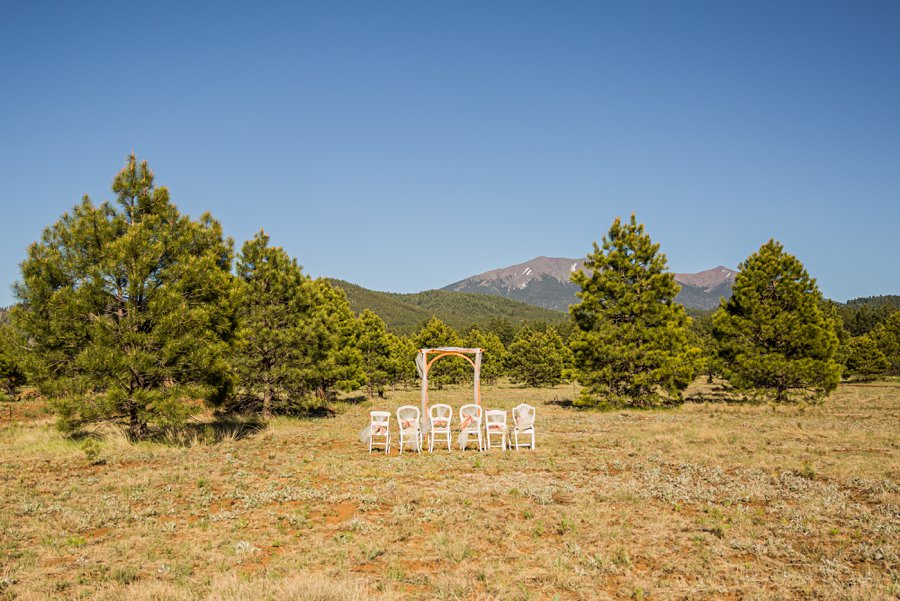 Becca and Josh: Northern AZ Wedding Photographer Thundercliffe Lodge Venue Ceremony