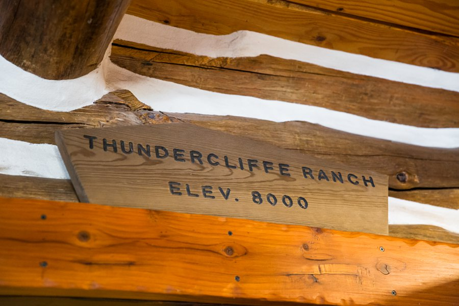 Becca and Josh: Northern AZ Wedding Photographer Thundercliffe Ranch sign