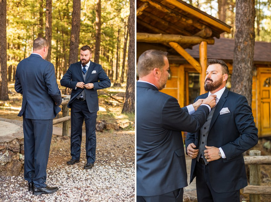 Becca and Josh: Northern AZ Wedding Photographer groom and best man