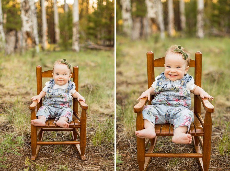 Borbon Family: Northern Arizona Family Photography baby girl happy