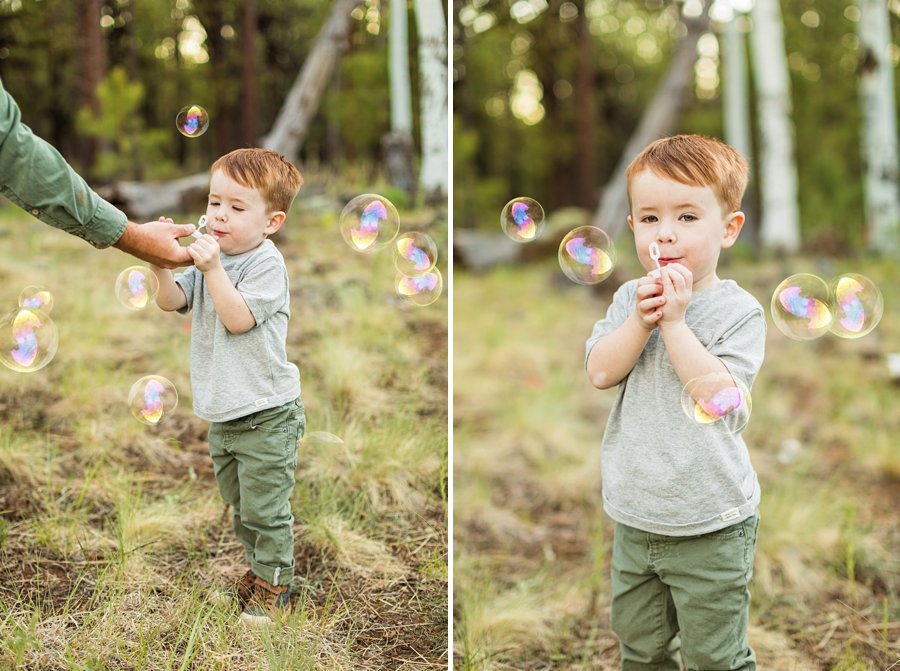 Borbon Family: Northern Arizona Family Photography bubbles