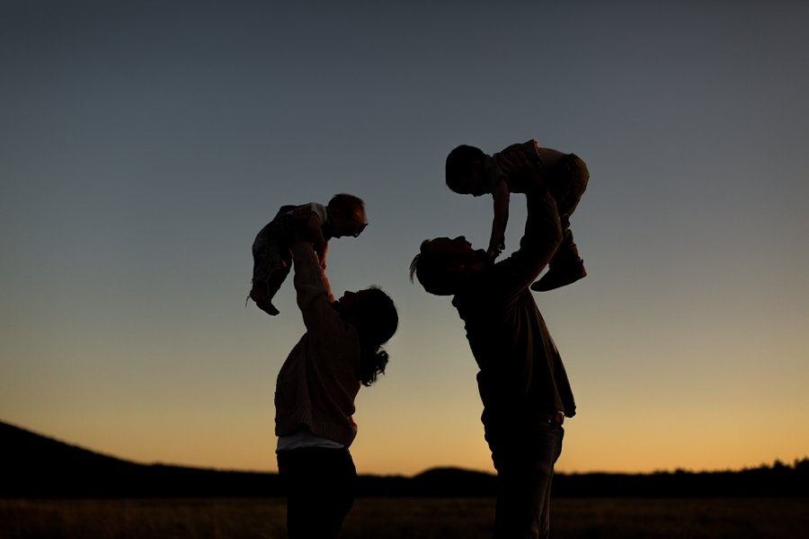 Borbon Family: Northern Arizona Family Photography silhouette