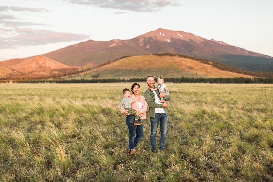 Borbon Family: Northern Arizona Family Photography best place to see sunset