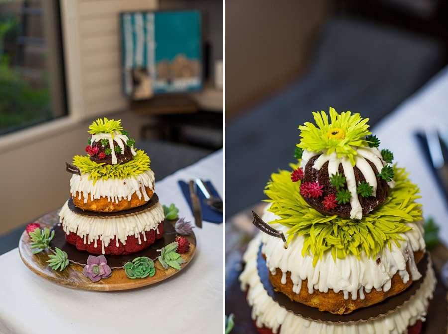 Liz and Jeremy: Phoenix Wedding Photography bundt cake wedding