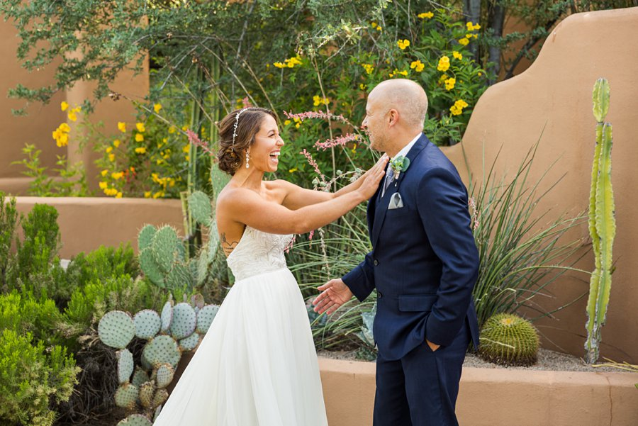 Liz and Jeremy: Phoenix Wedding Photography the moment of the first look
